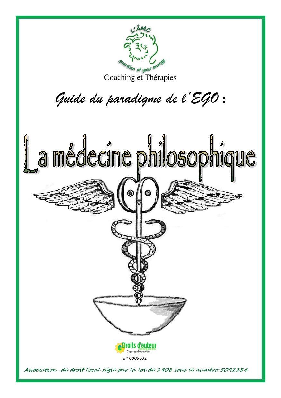 Livre sur le paradigme de l'égo décrivant la médecine philosophique des Theios Aner