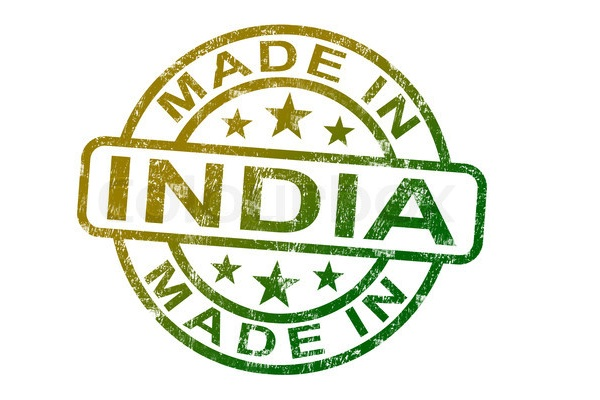Made In India Stamp Showing Indian Product Or Produce