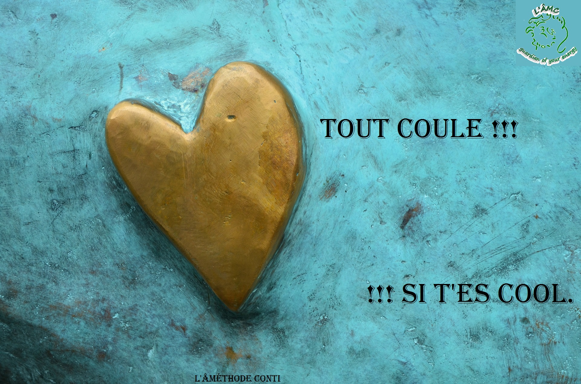 rester cool, coeur, amour